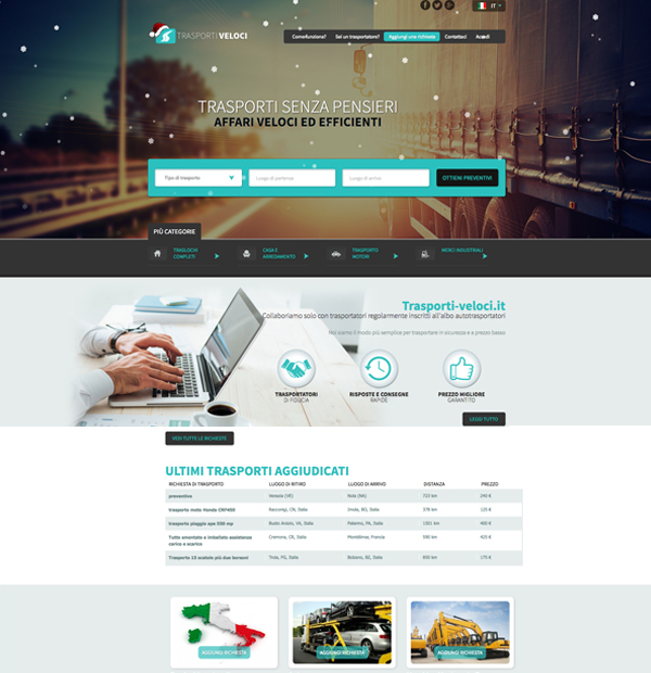 Design site bursa de transport